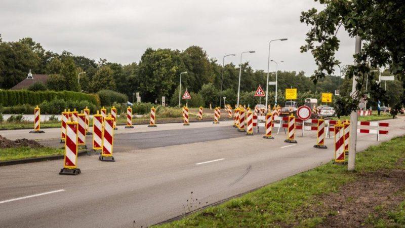 Verkeersmaatregelen Noorderhogeweg Drachten volgens het verkeersplan.
