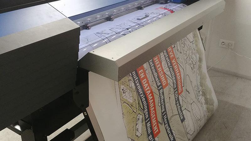 De sticker wordt geprint en kan vervolgens op het Projectbord worden geplakt