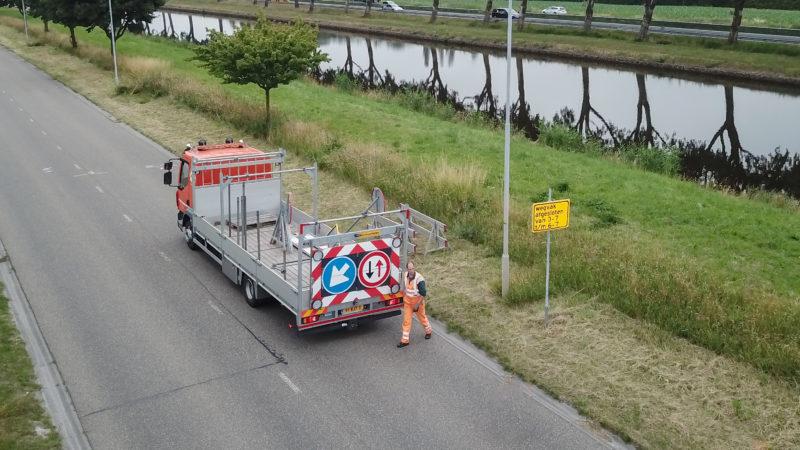 Wegwijsrent verhuurt en plaatst verkeersmaatregelen in Groningen