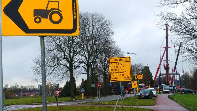 Verkeersomleiding Borgbrug stad